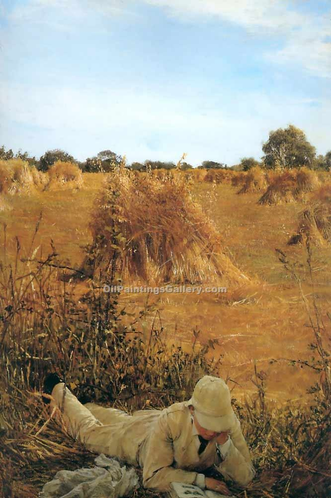 """94 Degrees in the Shade"" by  Sir Lawrence Alma Tadema"
