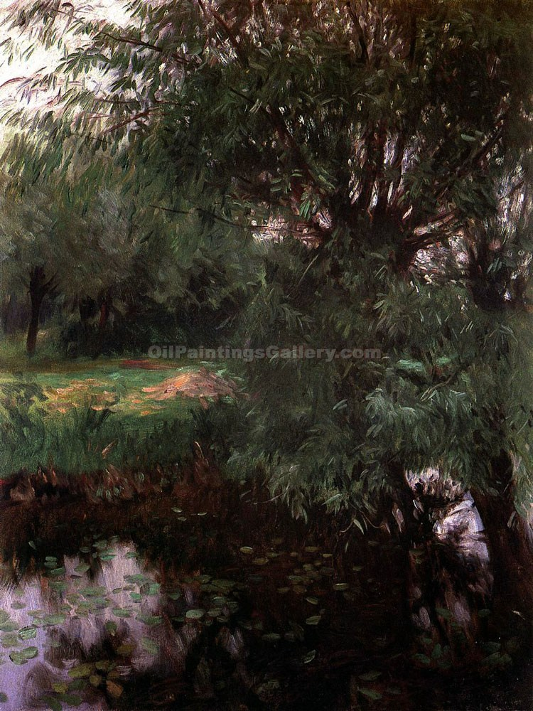 """A Backwater at Wargrave"" by  John Singer Sargent"