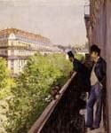 A Balcony by  Gustave Caillebotte (Painting ID: CI-0728-KA)