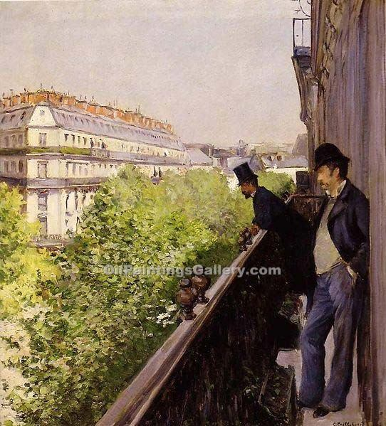 """A Balcony"" by  Gustave Caillebotte"