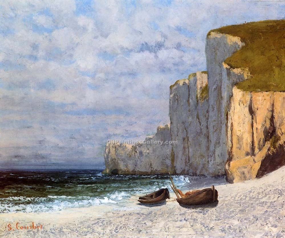 """A Bay with Cliffs"" by  Gustave Courbet"