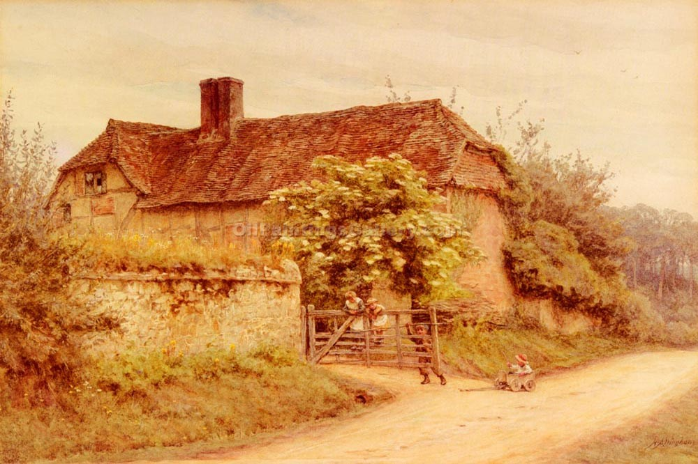 """A Berkishire Cottage"" by  Helen Allingham"