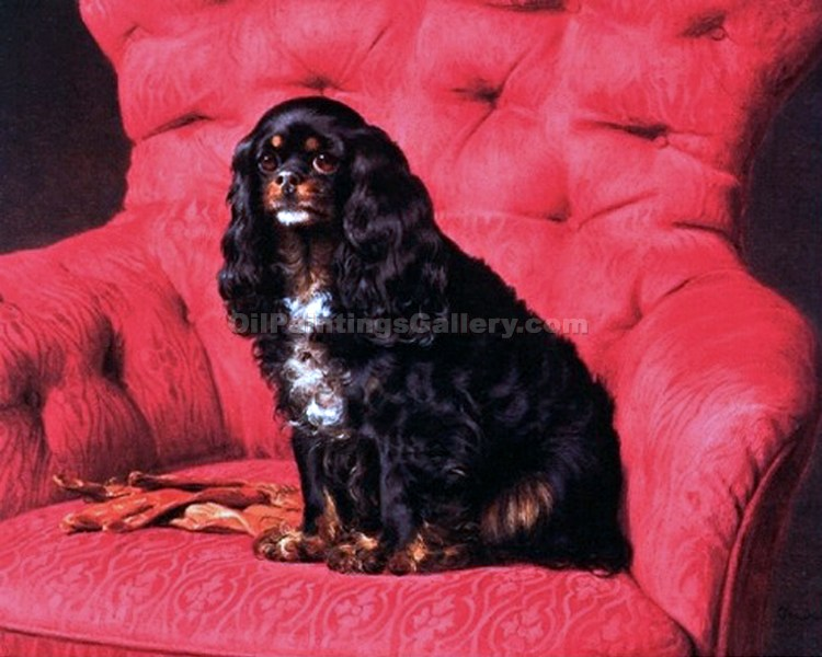 """A Black and Tan Toy Spaniel"" by  Otto Bache"