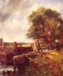 A Boat Passing a Lock by  John Constable (Painting ID: LA-2934-KA)