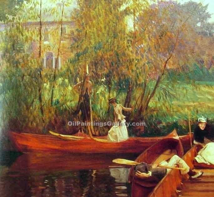 """A Boating Party"" by  John Singer Sargent"