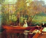 A Boating Party by  John Singer Sargent (Painting ID: EI-0429-KA)
