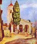 A Church at Cagnes by  Pierre Auguste Renoir (Painting ID: CL-4611-KA)