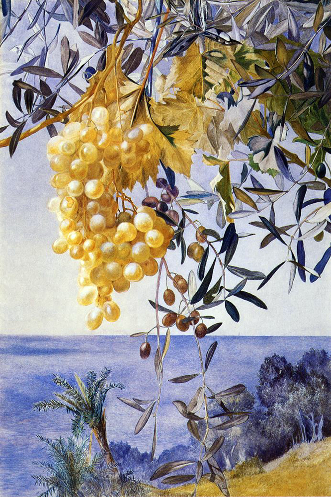 """A Cluster of Grapes"" by  Henry Roderick Newman"