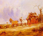 A Coach and Four on the Open Road by  George Wright (Painting ID: AN-0223-KA)