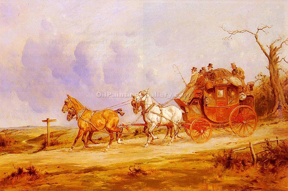 """A Coach and Four on the Open Road"" by  George Wright"