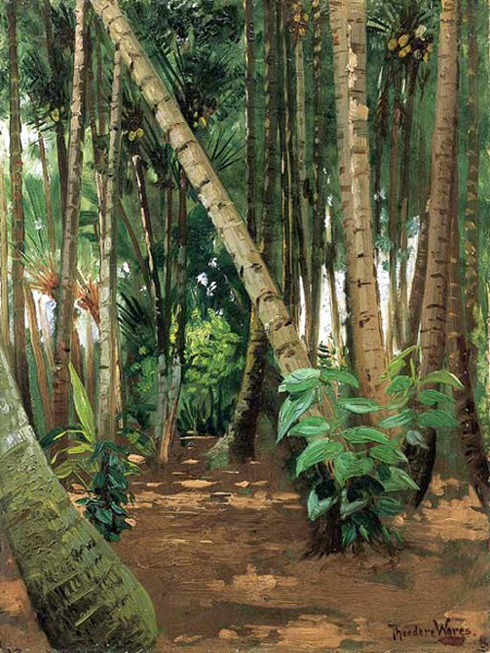 """A Coconut Grove"" by  Theodore Wores"