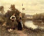 A Conversation by  Daniel Ridgway Knight (Painting ID: EI-0927-KA)