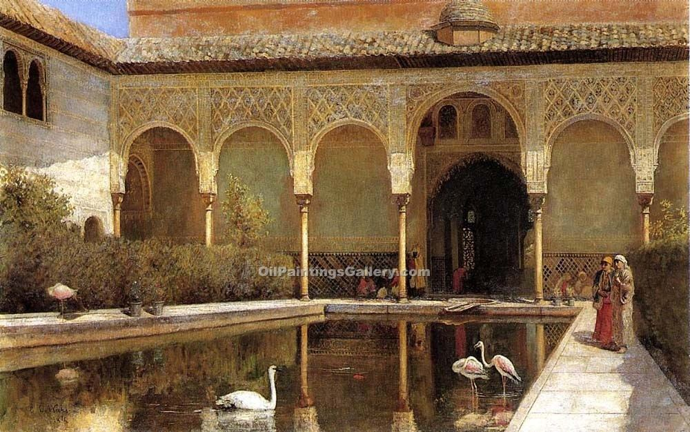 """A Court in the Alhambra in the Time of the Moors"" by  Edwin Lord Weeks"
