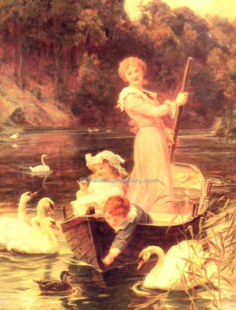 """A Day On The River"" by  Frederick Morgan"