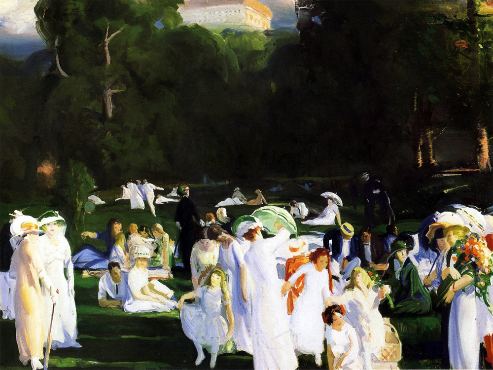 A Day in June 00 by George Bellows | Oil On Canvas Painting - Oil Paintings Gallery