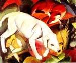 A Dog a Fox and a Cat by  Franz Marc (Painting ID: AN-0305-KA)