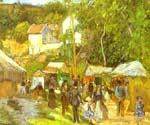 A Fair at the Hermitage near Pontoise by  Camille Pissarro (Painting ID: LA-0934-KA)