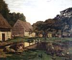 A Farmyard In Normandy by  Claude Monet (Painting ID: MO-1131-KA)