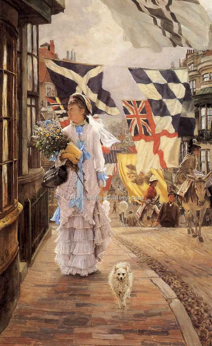 """A Fete Day at Brighton"" by  James Tissot"