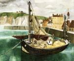 A Fishing Boat in Dieppe Harbour by  Christopher Wood (Painting ID: LA-6264-KA)