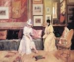 A Friendly Call by  William Merritt Chase (Painting ID: ED-1420-KA)