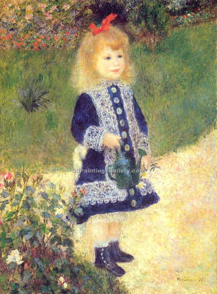 """A Girl with a Watering Can"" by  Pierre Auguste Renoir"