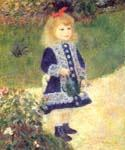 A Girl with a Watering Can by  Pierre Auguste Renoir (Painting ID: CL-4443-KA)