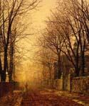 A Golden Beam by  John Atkinson Grimshaw (Painting ID: LA-0254-KA)