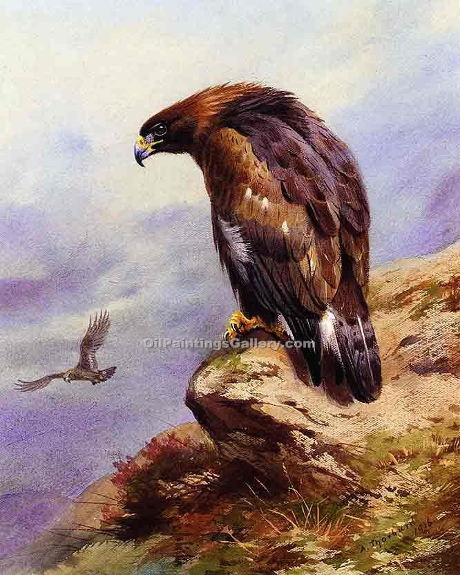 """A Golden Eagle"" by  Archibald Thorburn"