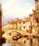 A Gondola On A Venetian Backwater Canal by  Antonietta Brandeis (Painting ID: CI-0071-KA)