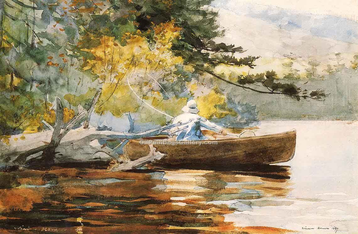 """A Good One"" by  Winslow Homer"