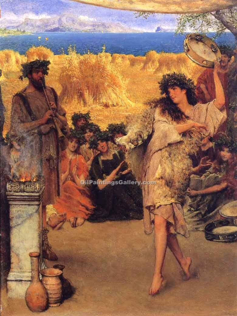 """A Harvest Festival"" by  Sir Lawrence Alma Tadema"