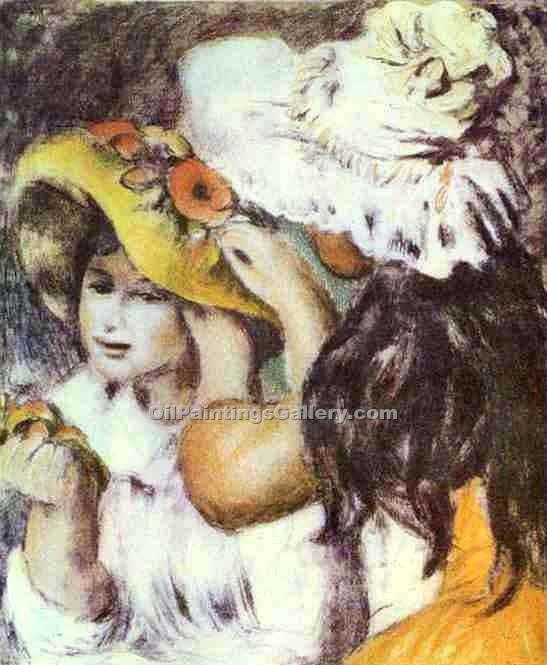 """A Hat with a Pin"" by  Pierre Auguste Renoir"