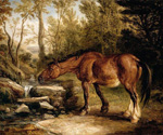 A Horse Drinking at a Stream by  James Ward (Painting ID: AN-0154-KA)