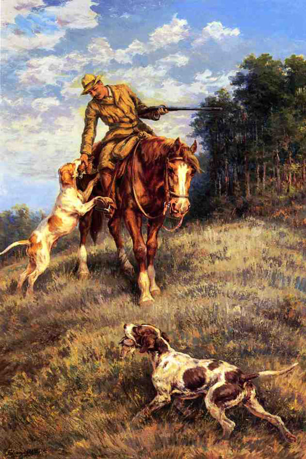 """A Hunter and His Dogs"" by  Edmund H. Osthaus"