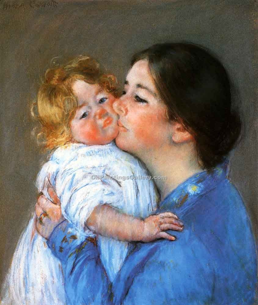 """A Kiss for Baby Anne"" by  Mary Cassatt"