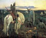 A Knight at the Crossroads by  Viktor  Mikhailovich Vasnetsov (Painting ID: CM-1666-KA)
