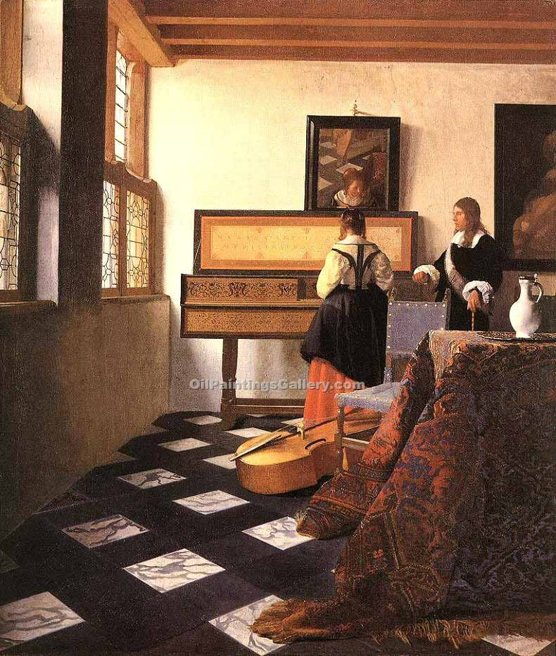 """A Lady at the Virginals with a Gentleman"" by  Jan Vermeer"