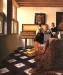 A Lady at the Virginals with a Gentleman by  Jan Vermeer (Painting ID: CM-0962-KA)