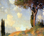 A Landscape Study at San Viglio, Lake of Garda by  John Singer Sargent (Painting ID: LA-2302-KA)