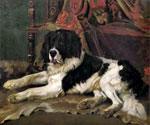 A Landseer Newfoundland by  England 1891 to 1941 Barker Wright (Painting ID: AN-0429-KA)