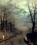 A Lane In Headingley, Leeds by  John Atkinson Grimshaw (Painting ID: LA-0276-KA)