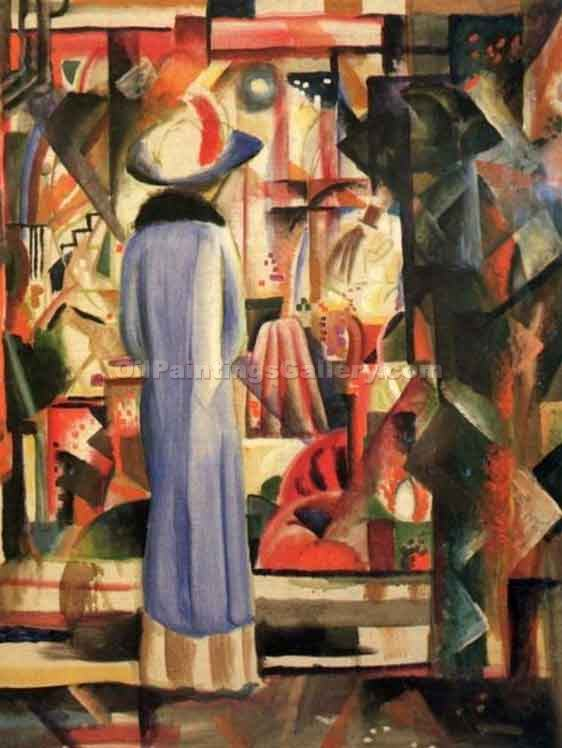 """A Large Light Shop Window"" by  August Macke"