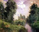 A Long Island River by  Thomas Moran (Painting ID: LA-5674-KA)
