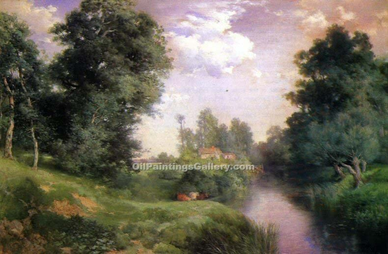 """A Long Island River"" by  Thomas Moran"