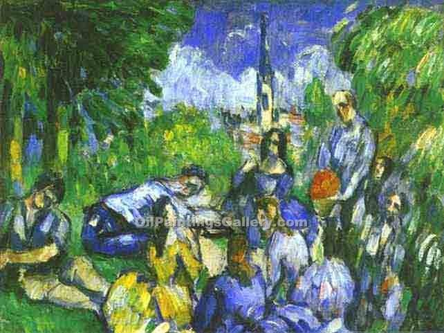 """A Lunch on Grass"" by  Paul Cezanne"