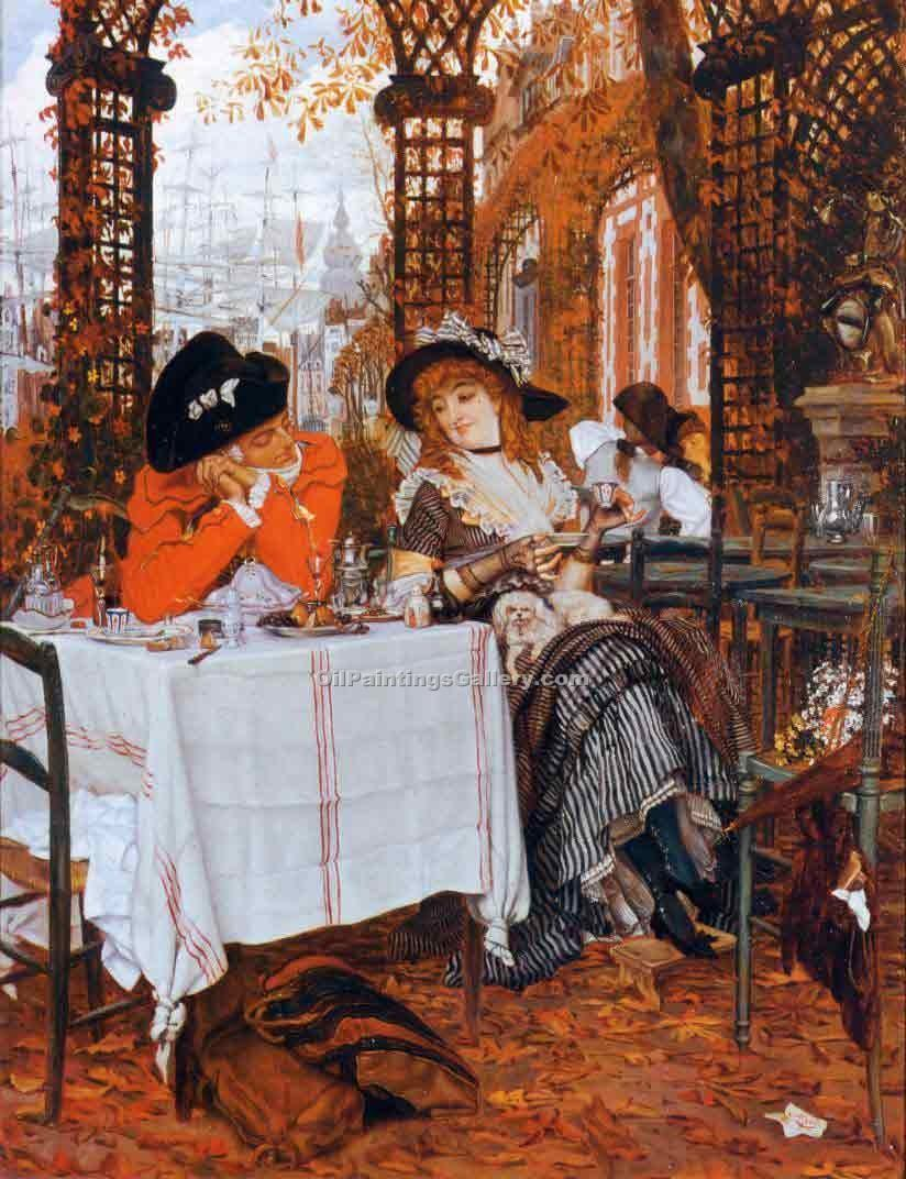 """A Luncheon"" by  James Tissot"