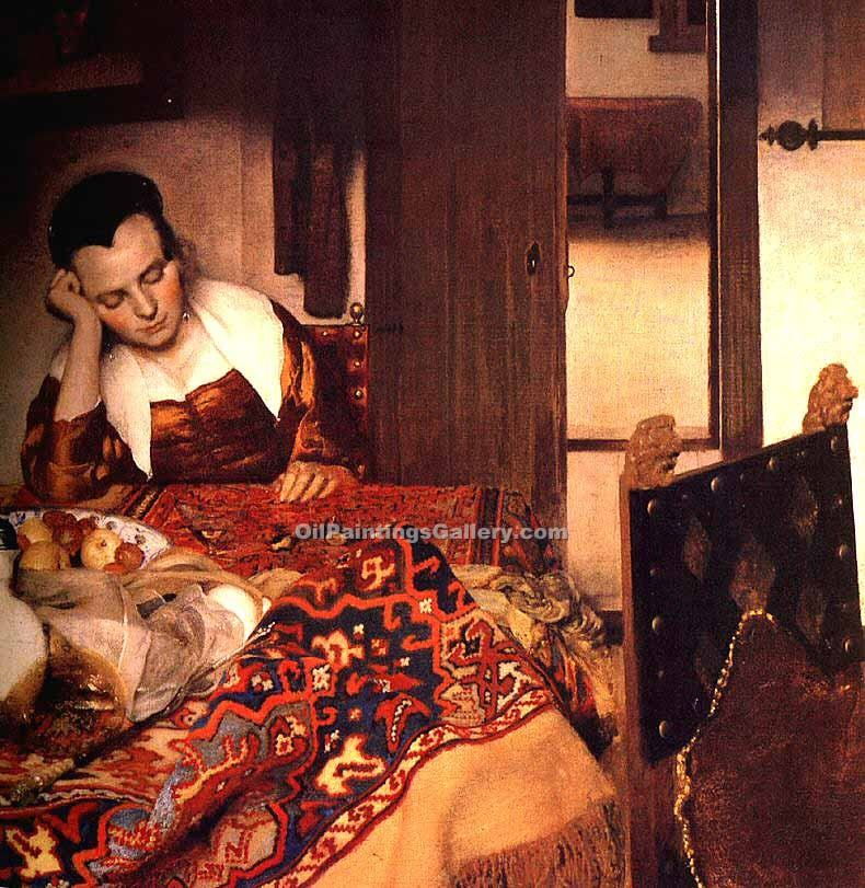 """A Maid Asleep"" by  Jan Vermeer"