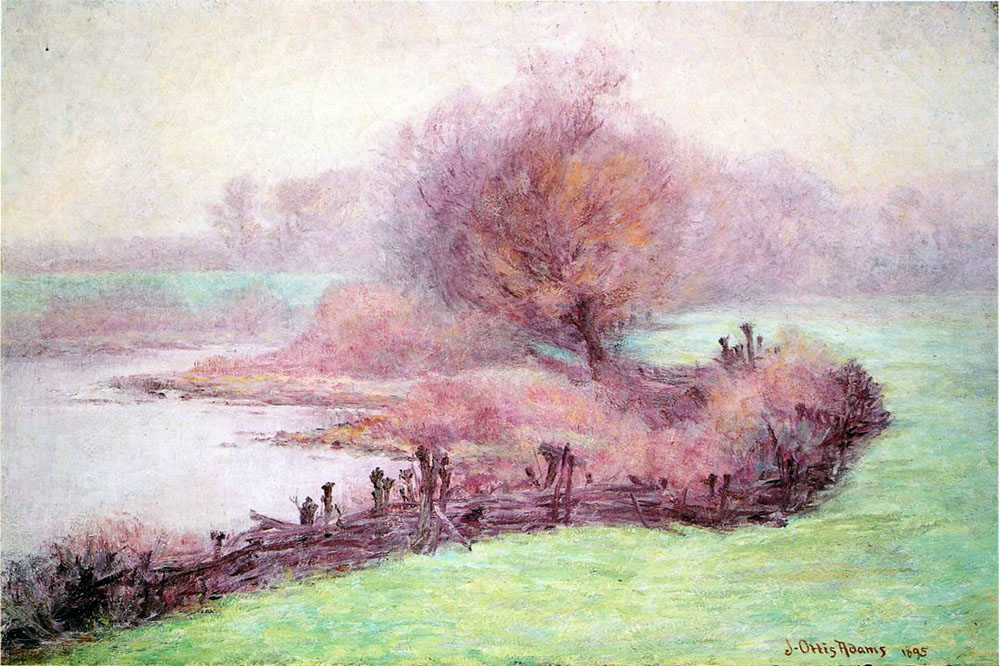 """A Misty Morning on the Mississinewa"" by  John Ottis Adams"