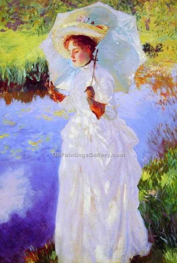 A Morning Walk by John Singer Sargent | Portrait Paintings - Oil Paintings Gallery